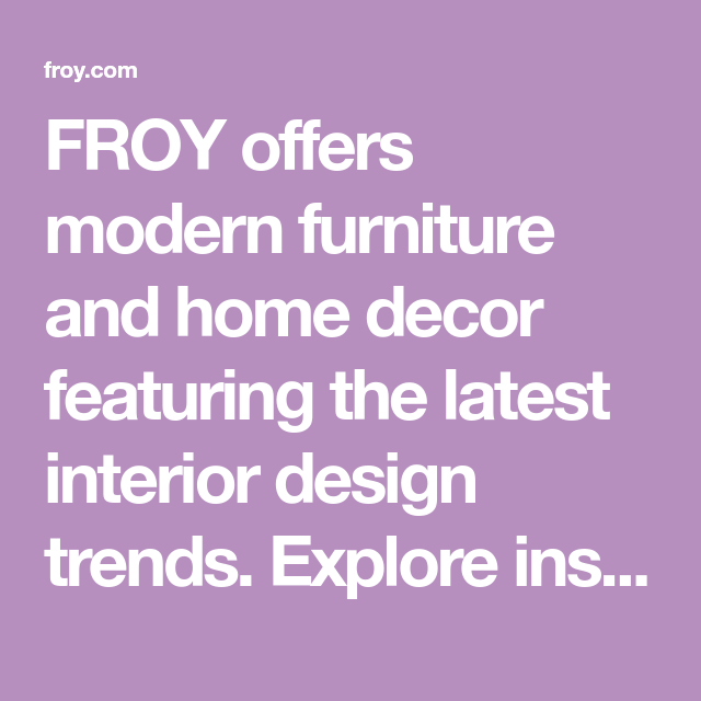 Rustic Living Roomdesign Ideas: FROY Offers Modern Furniture And Home Decor Featuring The
