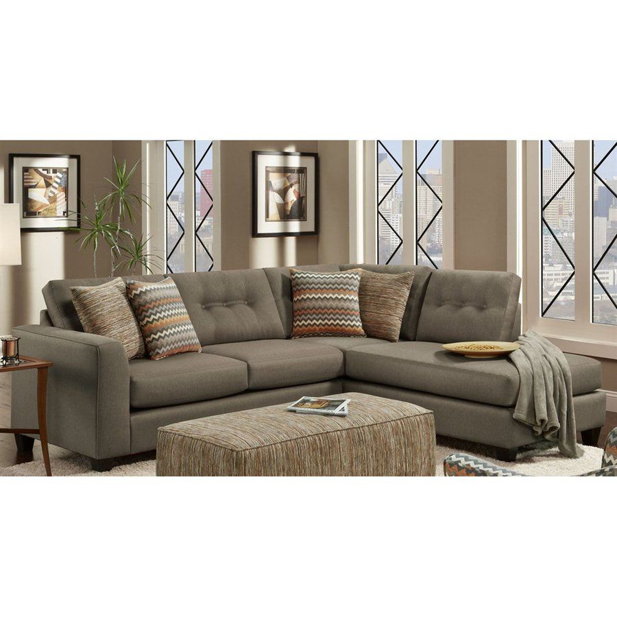 Fusion Furniture Fan Flame Contemporary Sectional Sofa With Right Arm Facing Chaise Regency Washington Dc