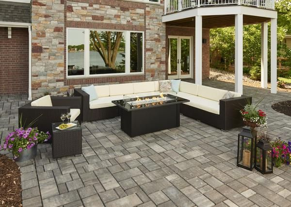 Outdoor Greatroom Linear Monte Carlo Fire Pit Table Black Glass Top Fire Pit Table Gas Fire Pit Table Gas Firepit