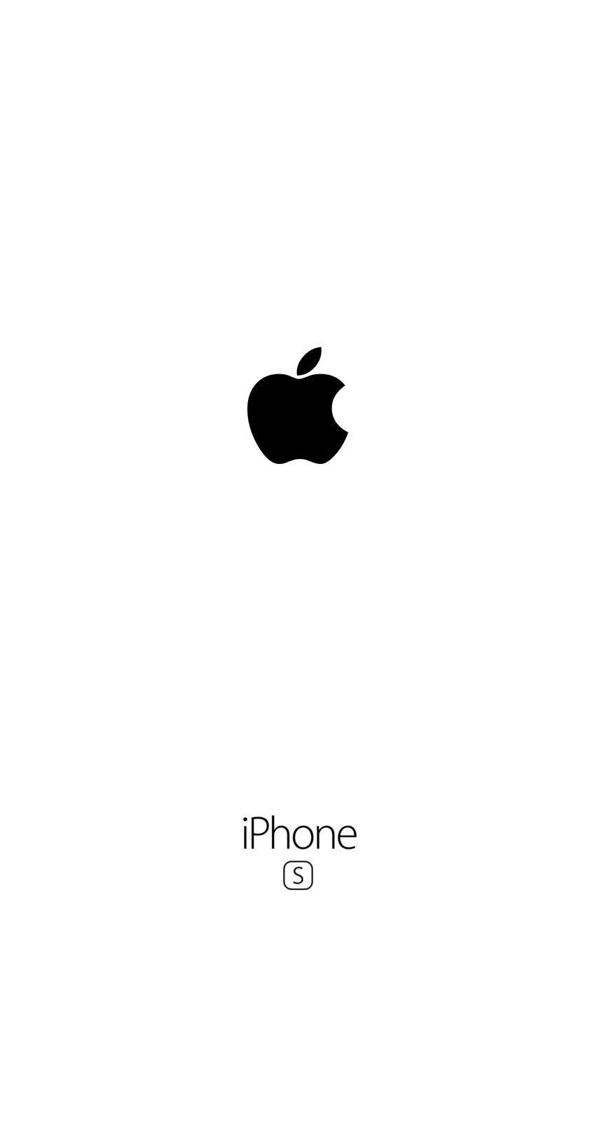 Iphone 6s Wallpaper White Logo Apple Fond Decran Blanc