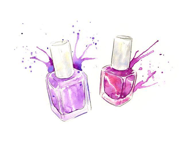 nail polish watercolor client