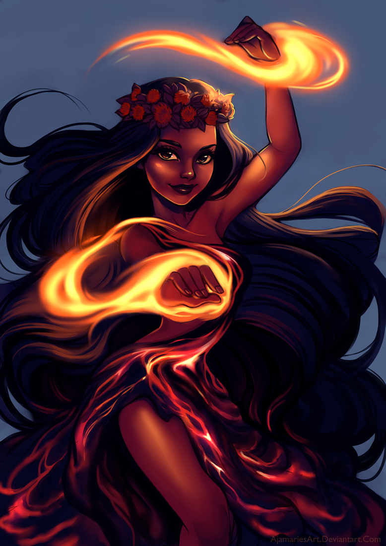 Volcanoe Goddess Pele by Blushy-Pixy on DeviantArt  Hawaiian