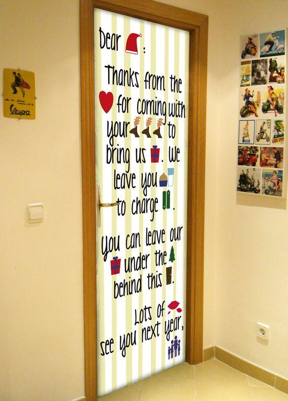 Navidad en tus puertas english pinterest imagenes for Puertas decoradas santa claus