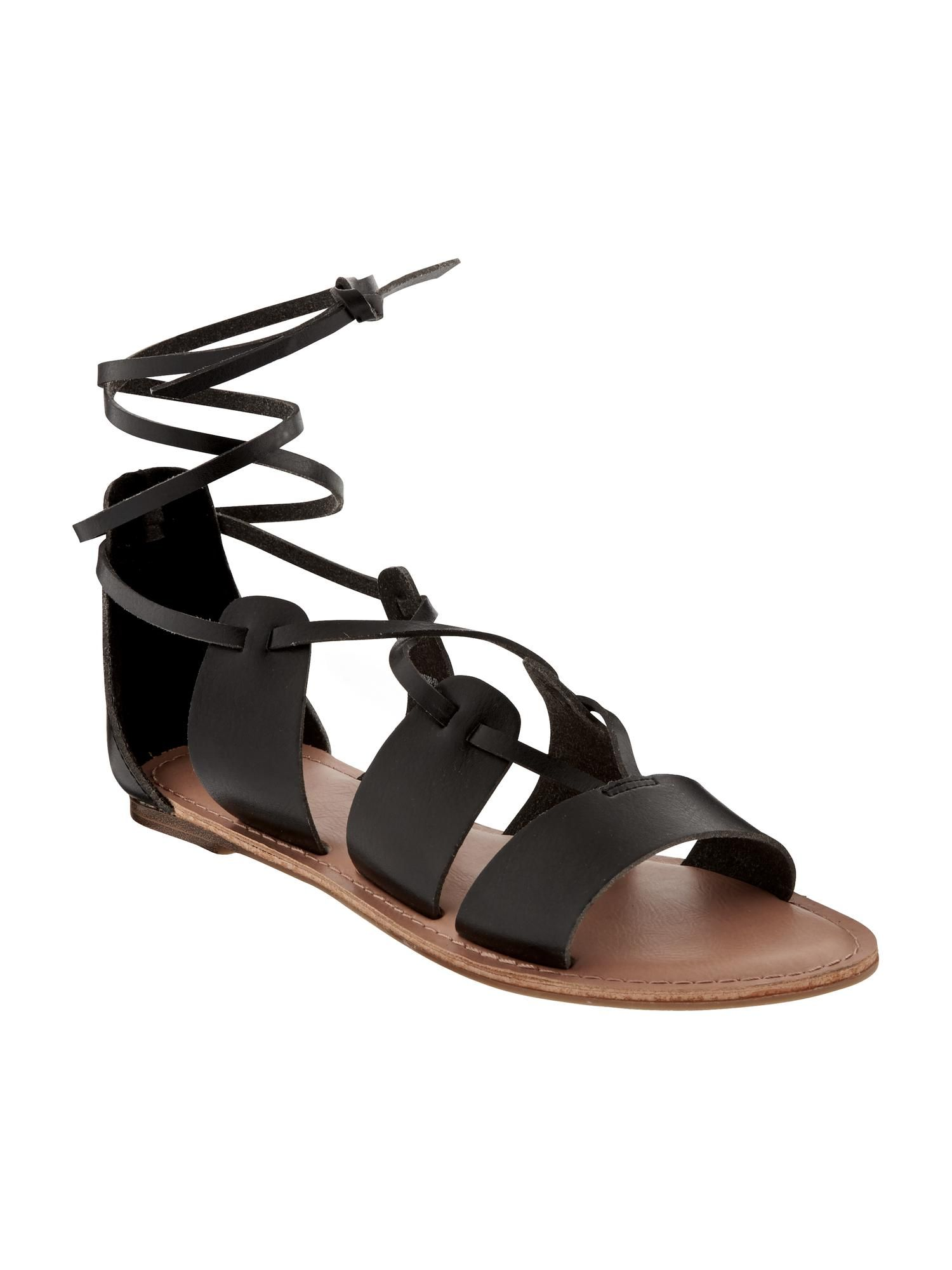 Black sandals old navy - Lace Up Gladiator Sandals For Women Old Navy