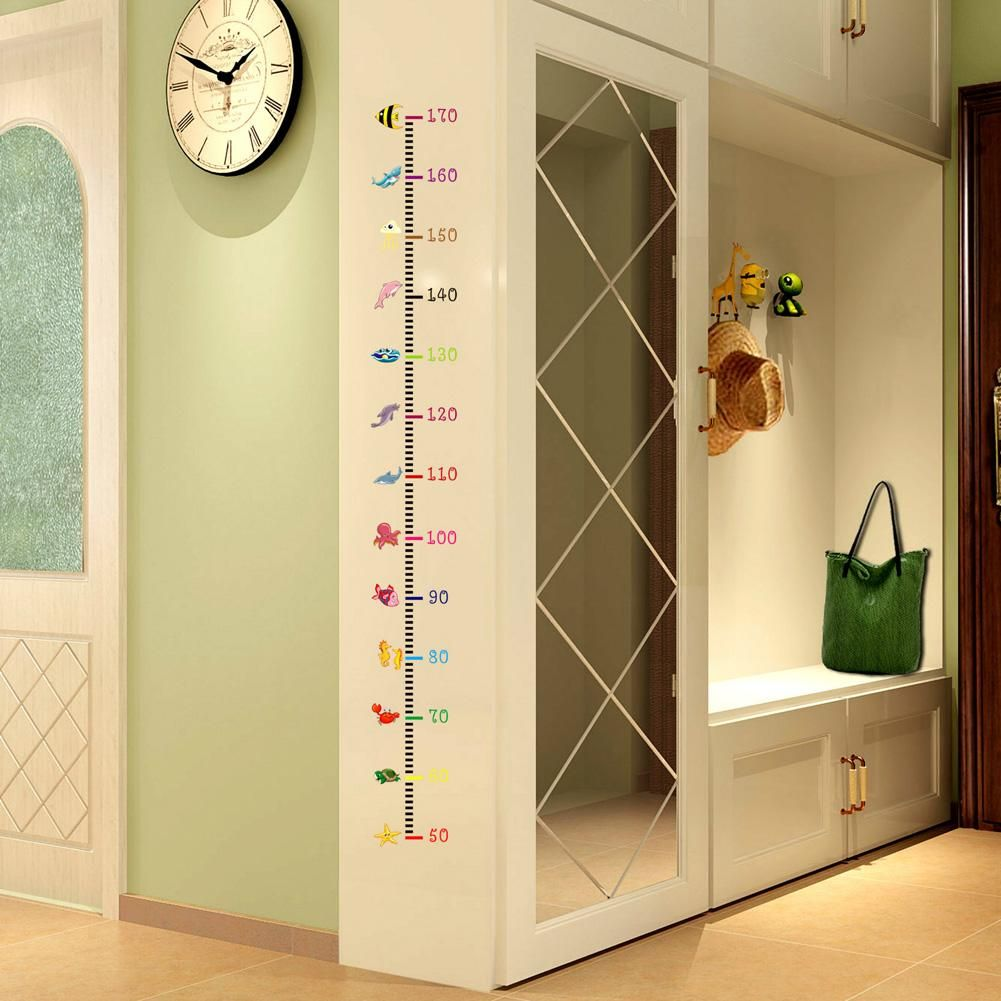 Undersea Animals Wall Sticker Height Measurement Home Children ...