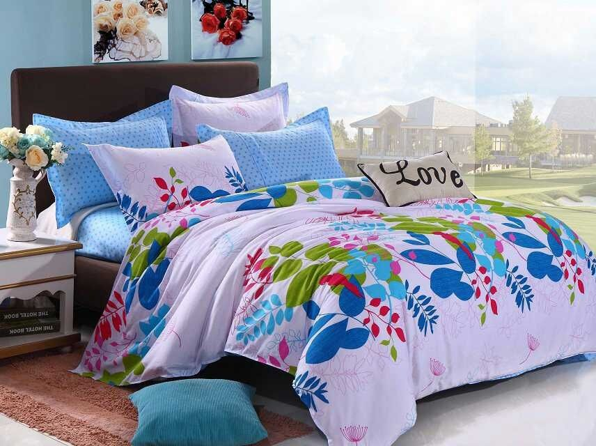 Various-Colorful-beautiful-Flowers-Teen-Girls-Bedding-sets-4pcs-Full-Queen-size-Children-bed-set
