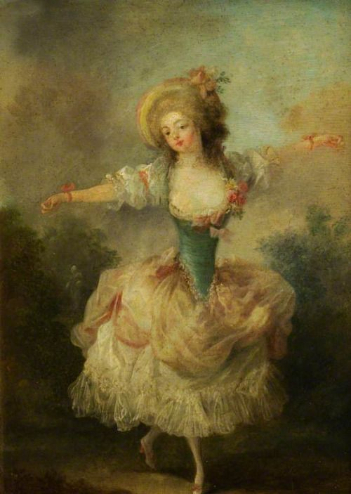 A Dancer with Arms Outstretched (c.1775-c.1790).Jean-Frédéric...