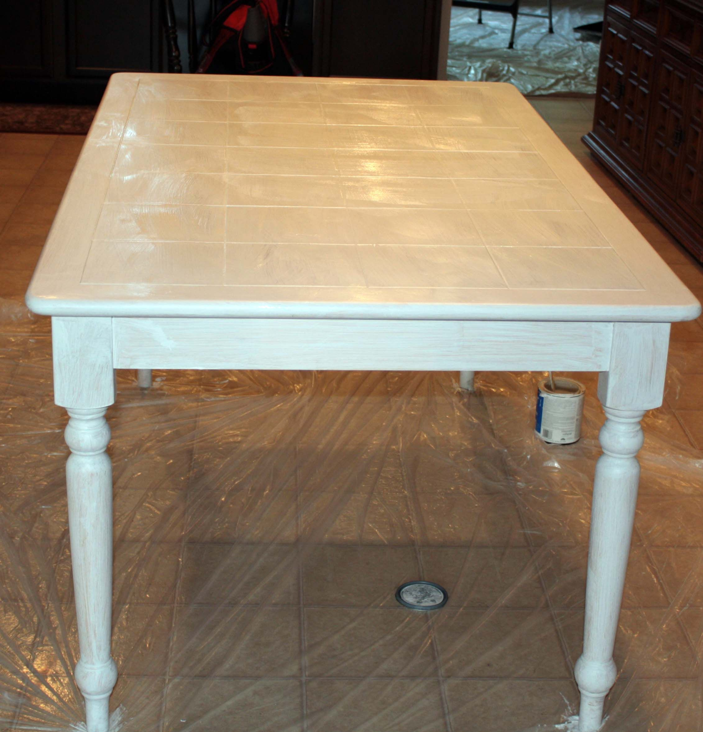 Painting A Tiled Table Top Kitchen Table Kitchen Table Redo