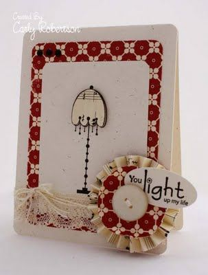 unity stamp company. kit used - shine on! - card created by carly robertson -I like the accordion flower idea
