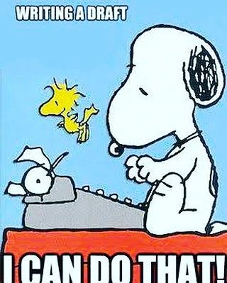 You can do that!! Side-note, snoopy is everything I aspire to be  . . . . . . . . . . . . . #writer #write #writing #writers #writerswrite #writeon #amwriting #writersofig #writersofinstagram #author #authors #authorsofig #authorsofinstagram #unitingwri