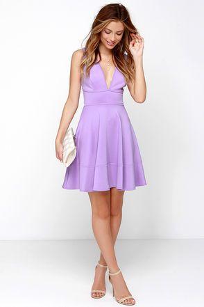 c8e79ea47f438 Cute Lavender Dress - Skater Dress - Sleeveless Dress -  40.00