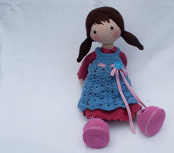 Crochet pattern for doll CELINE (Deutsch, English, Français, Español ...