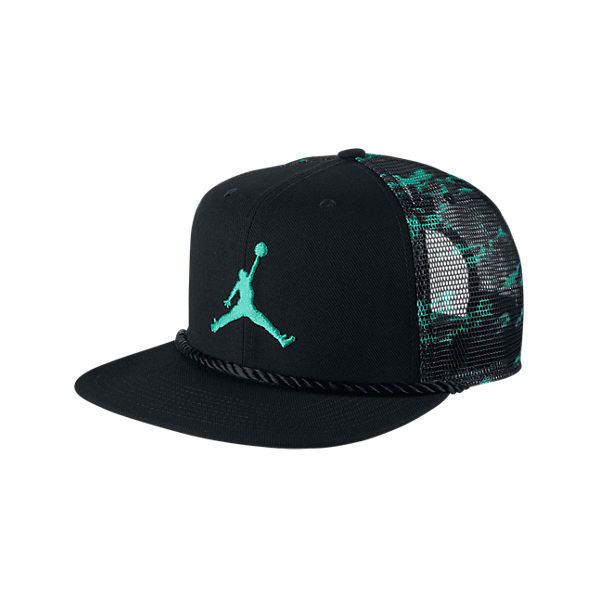 14d352bc94f Nike Jordan Cloud Camo Trucker Snapback Hat ( 20) ❤ liked on Polyvore  featuring accessories