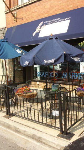 New England Seafood Company Restaurant Fish Market With Images Restaurant Fish Patio Umbrella Patio