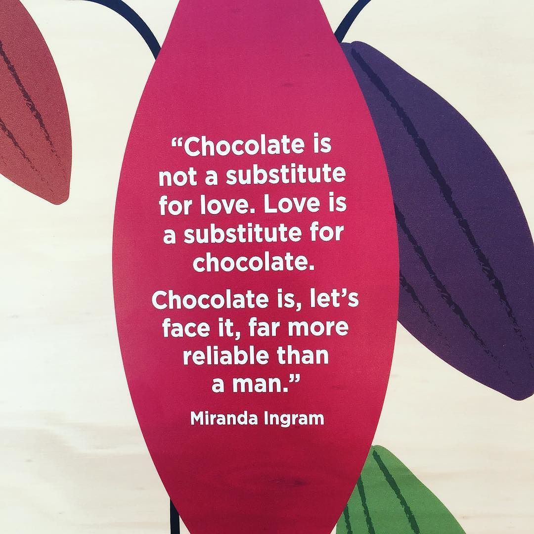 A very funny quote that I saw at the Botanical Gardens Sydney exhibition  on chocolate.  #sydney #thecalyx #sweetaddiction #lindor #quote @rbgsydney