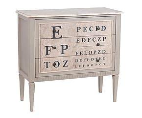 Cassettiera con 3 cassetti in legno Optique - 85x90x40 cm