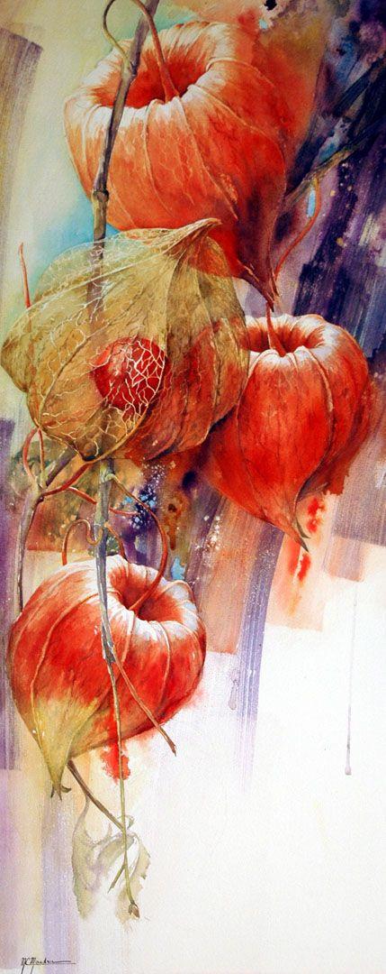 Marie Claire Moudru Dentelles D Amour En Cage Peinture Fleurs