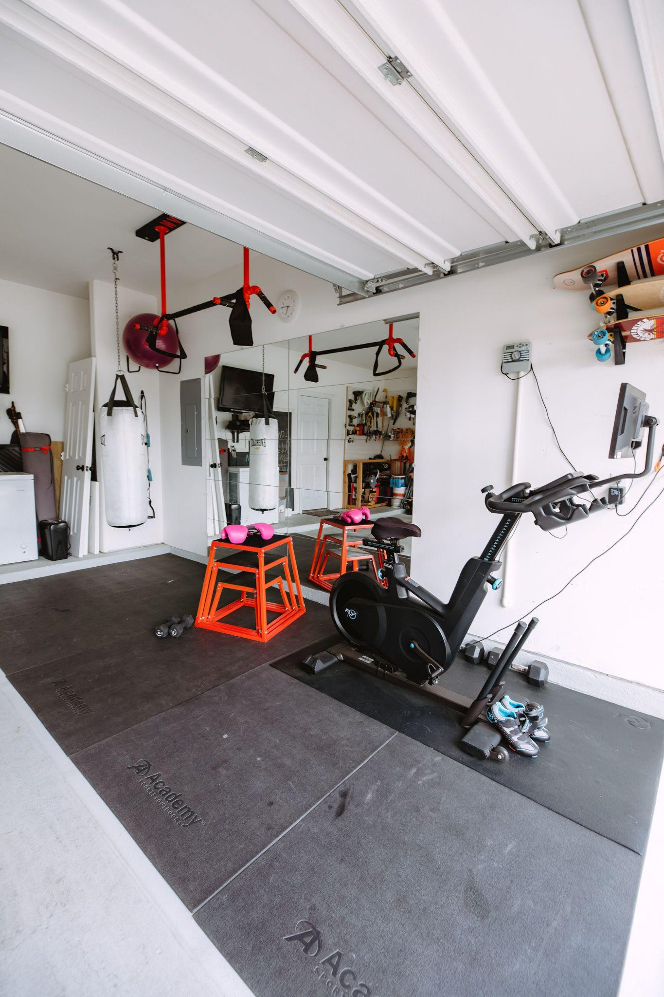 Half Garage Gym On A Budget In 2020 Home Gym Garage Gym Room At Home Garage Gym