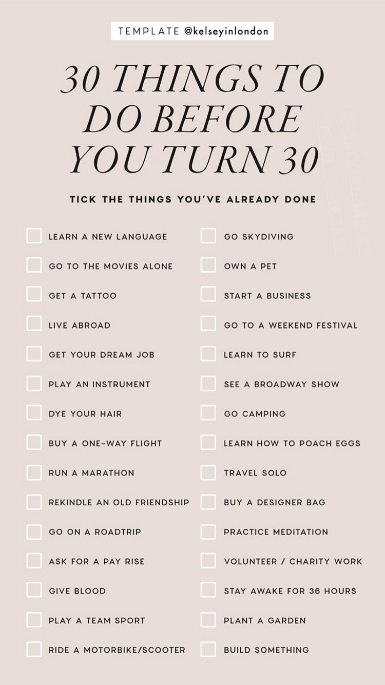 30 things to do before you re 30 instagram story template ig story templates pinterest. Black Bedroom Furniture Sets. Home Design Ideas