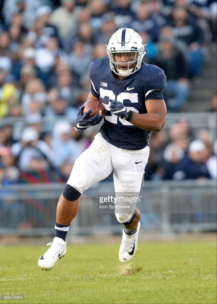 News Photo Penn State RB Saquon Barkley runs for a gain
