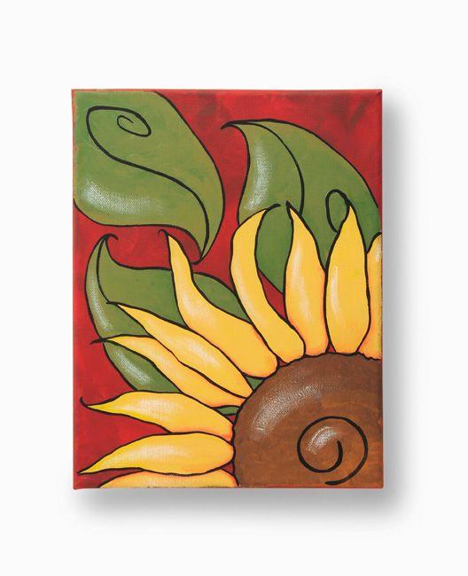 Fall Sunflower Canvas | Cuadro, Girasoles y Pinturas