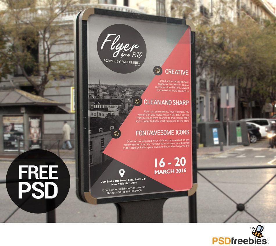 Business advertisement poster or flyer template psd flyers ideas download free business advertisement poster or flyer template psd you get a fully editable and print ready free photoshop psd poster or flyer template in accmission