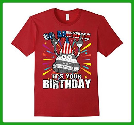 Mens Happy Birthday America Independence Day T Shirt 4th Of July 2XL Cranberry