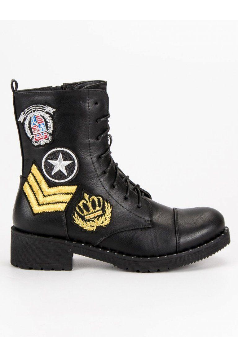 06ad2f5effdb Čierne topánky military Diamantique ML12B v roku 2019
