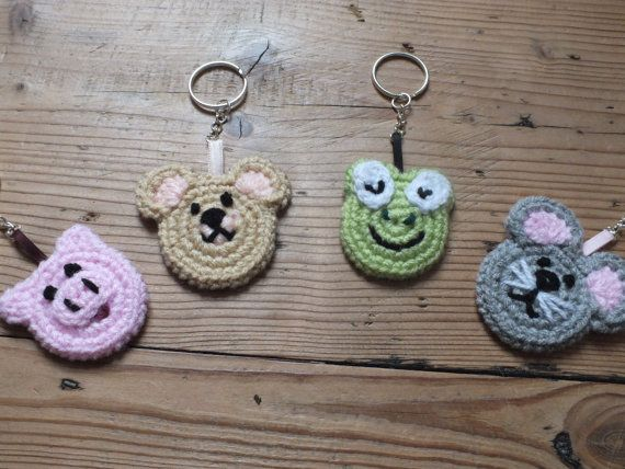 Instant download pdf crochet pattern:animal appliques frog mouse