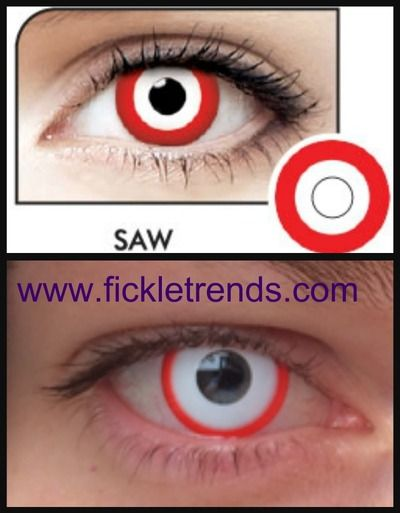 $20.00 Saw/target halloween contact lenses | Color Contacts ...