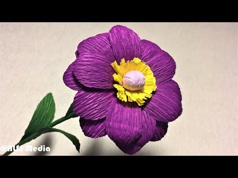 How to make flower with crepe paper diy origami paper flower making how to make flower with crepe paper diy origami paper flower making tutorials paper crafts youtube mightylinksfo