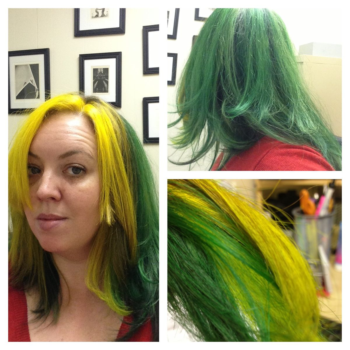 Green And Yellow Hair Manic Panic Enchanted Forest Punky Color Ebony Special Effects