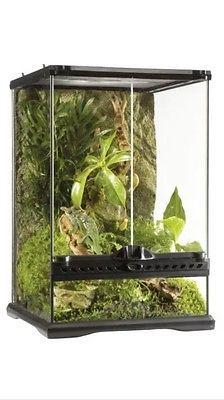 New Exo Terra Glass Natural Terrarium Mini Tall 30 X 30