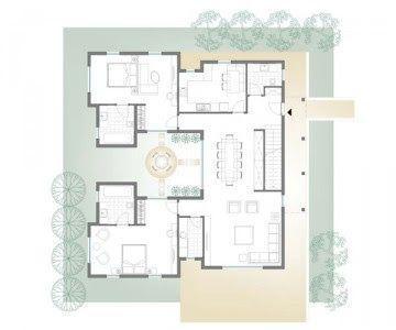 Casa prefabricada moderna con 2 plantas y 3 dormitorios for Plantas de casas minimalistas