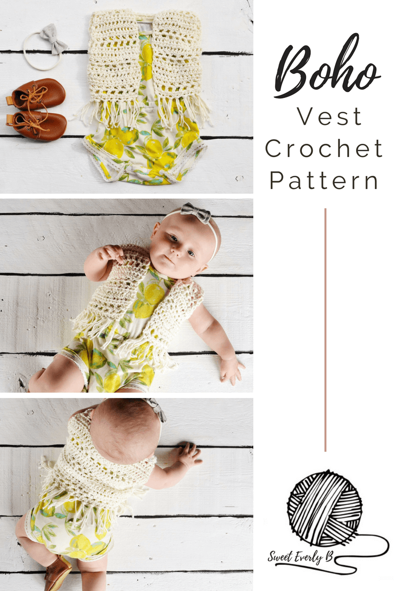 A Boho Chic Baby Crochet Vest Pattern That\'s Easy For Beginners ...