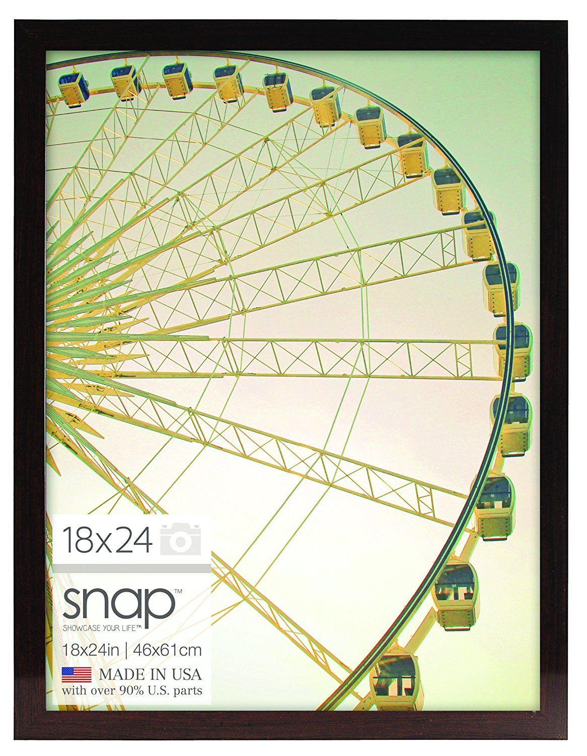 Snap Ashwood Poster Frame, 18 by 24-Inch, Brown ** You can find more ...