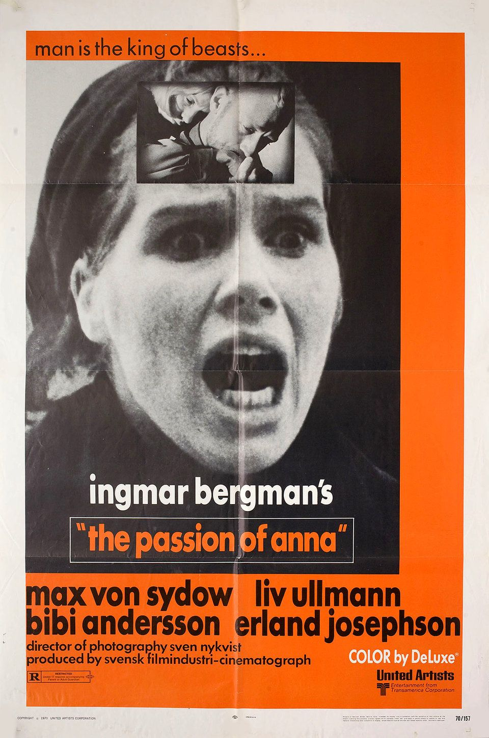 The Passion of Anna 1970 U.S. One Sheet Poster