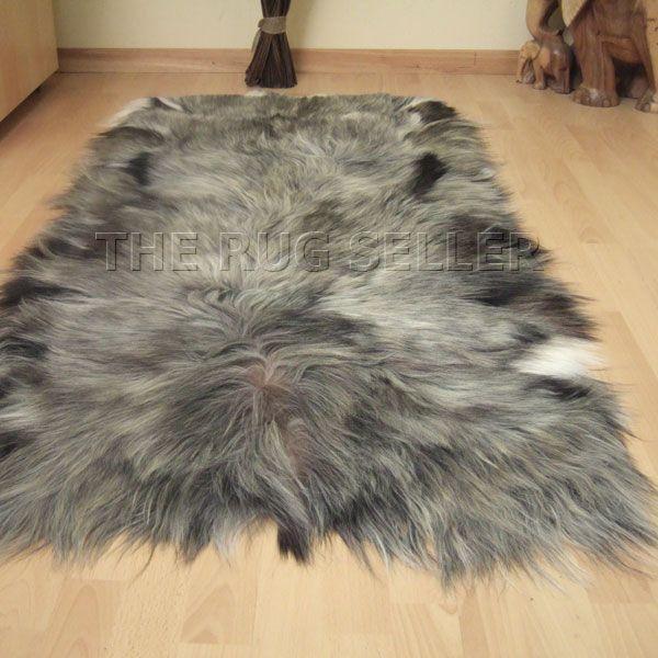 Mongolian Goatskin Rugs In Mixed