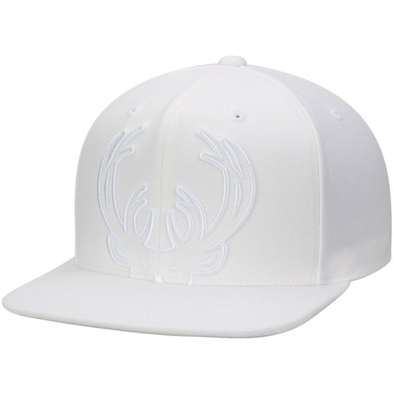 new concept 0ded3 df3d1 ... clearance milwaukee bucks mitchell ness cropped xl logo snapback  adjustable hat white 4bf62 279ce