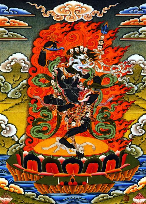 Wisdom-Dakini Singhamukha. Order the best thangka Paintings @ traditionalartofnepal.com