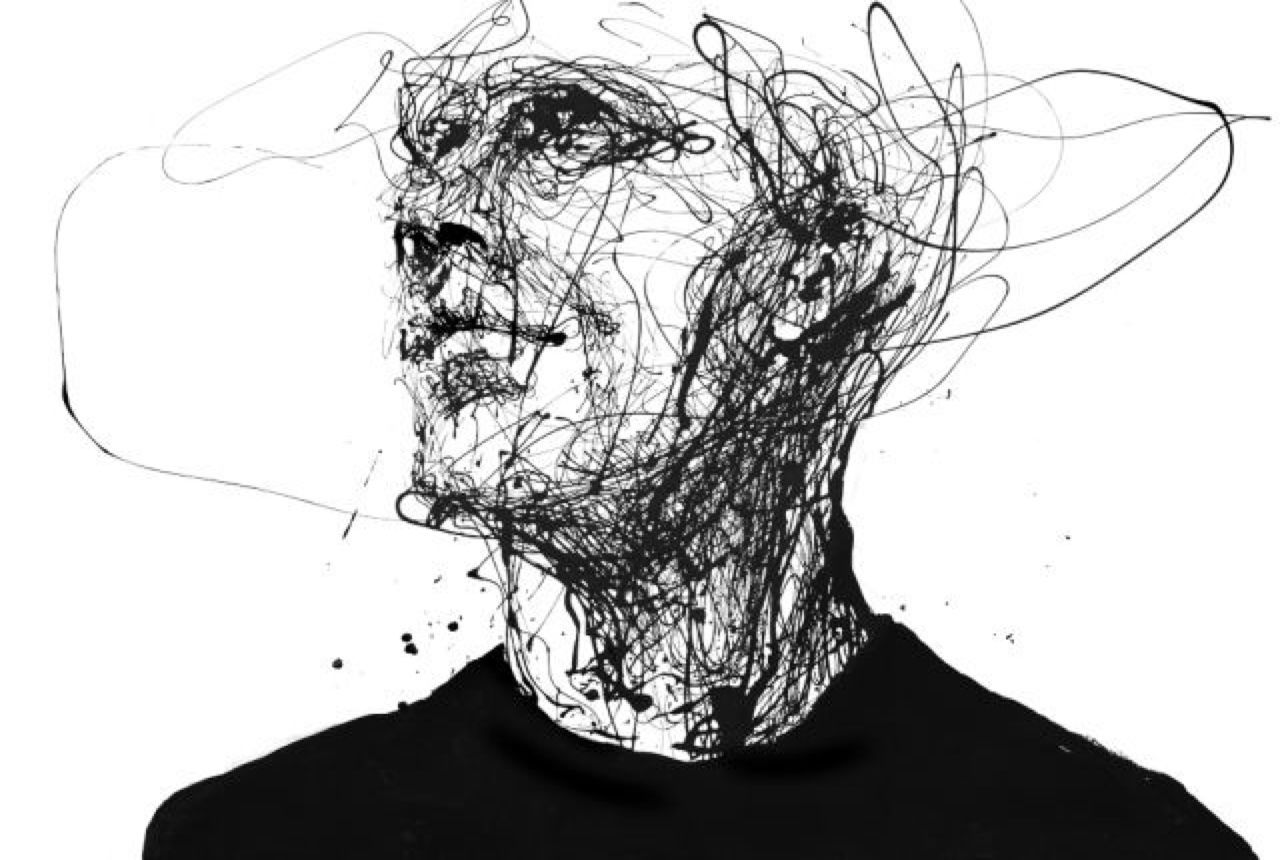 Line Art Portrait : Silvia pelissero agnes cecile art from the artidote