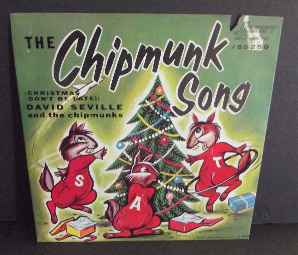 Details about The Chipmunks The Chipmunk Song Christmas 45 RPM ...