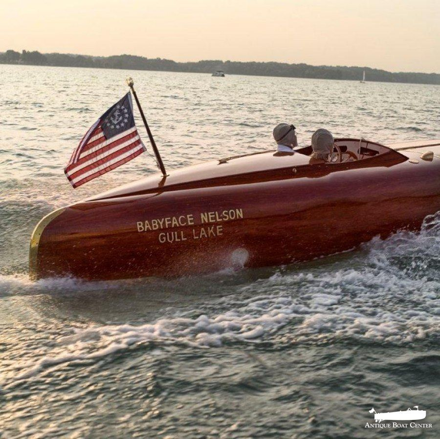 2002 30 Ft Gull Lake Wooden Boat Works Replica Baby