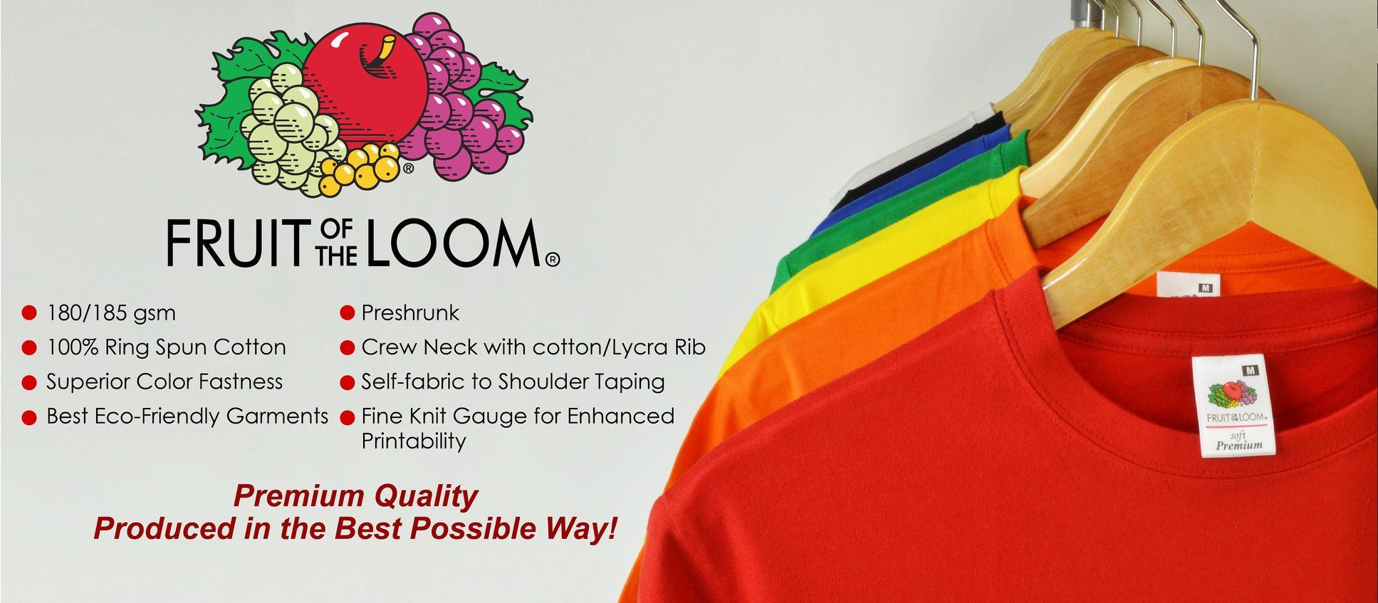 Fruit Of The Loom Soft Premium Shirts Are Made With 100 Finest Us