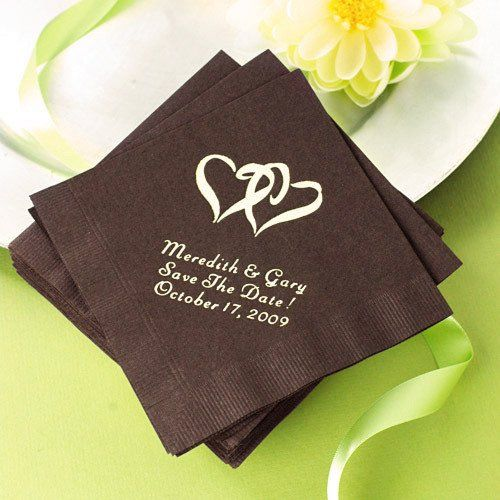 personalized exclusive wedding napkins