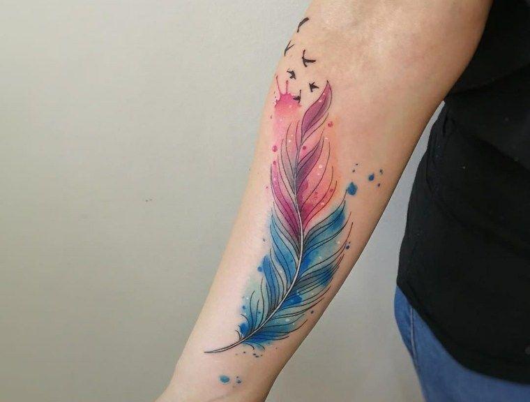 Tatuajes De Plumas Significado De Disenos De Estilos Y Mas De 50 Fotos Para Inspirar Nuevo Decoracion Significado Del Tatuaje De Pluma Tatuajes De Plumas Significado De Las Plumas