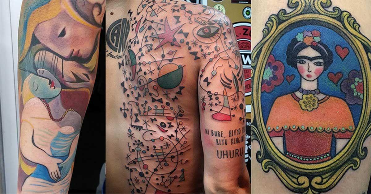 33 originales tatuajes inspirados en reconocidas obras de arte   Upsocl