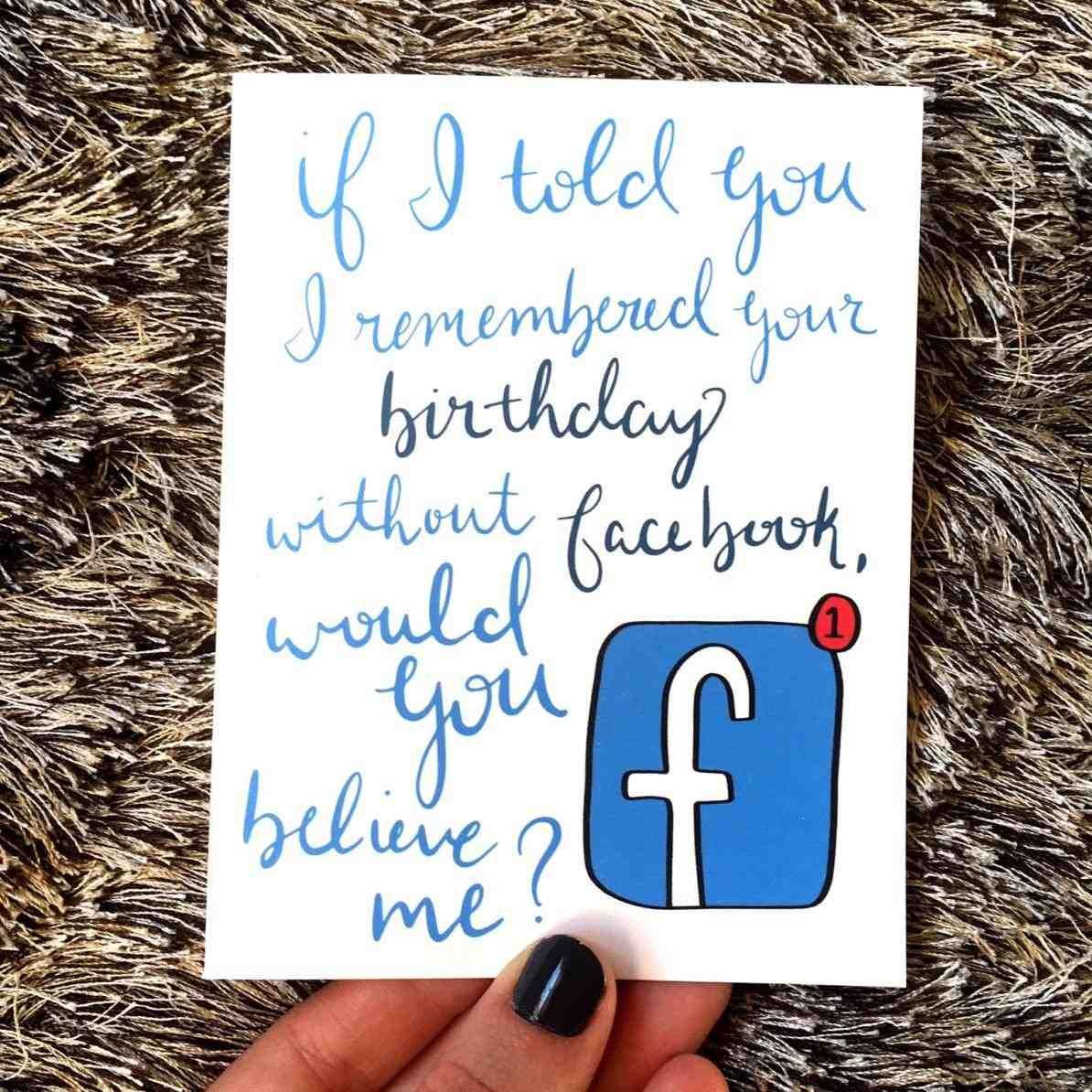 Facebook Vs Letterpressed Birthday Card Amazing Free Birthday Cards