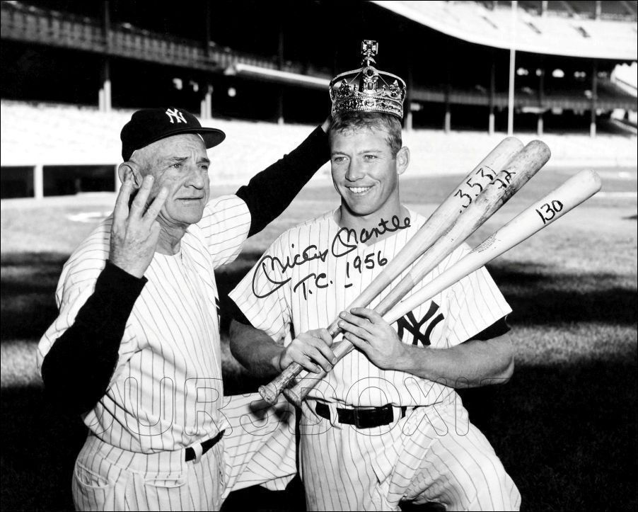 Casey and the Triple Crown king Mickey mantle, Mantle