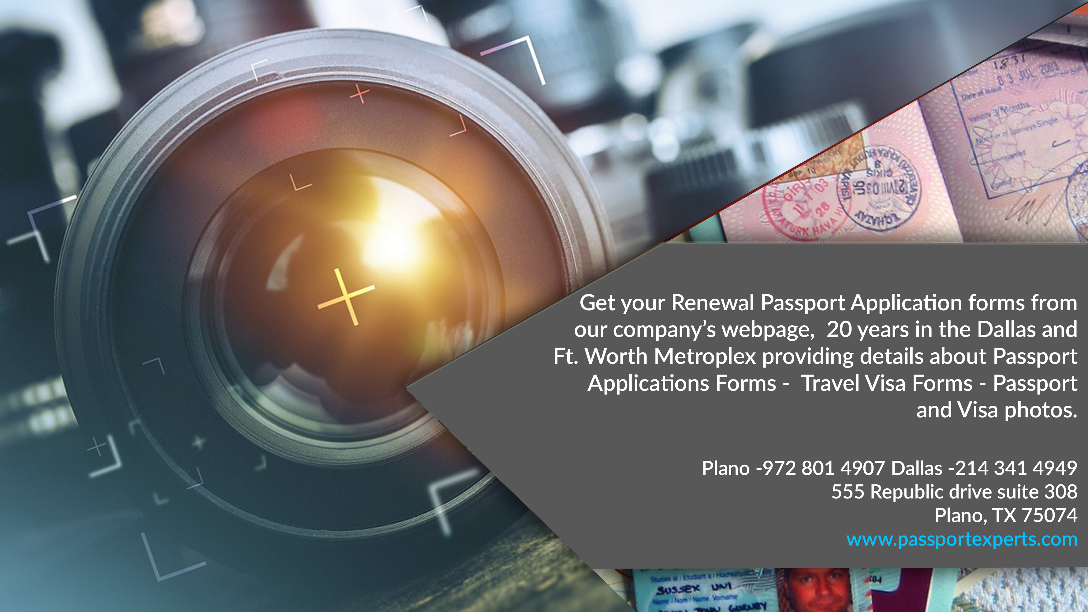 Get your Renewal Passport Application forms from our